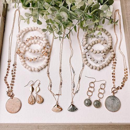 Stone Jewelry Set
