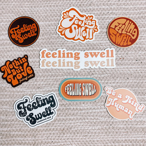 Feeling Swell Stickers