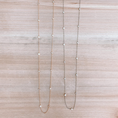 Long CZ Chain Necklace