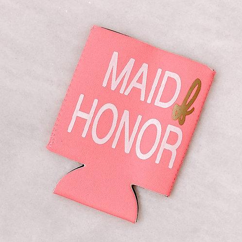 Maid Of Honor Drink Koozie
