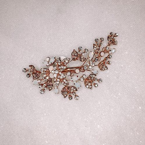 Rose Gold & Opal Hair Clip