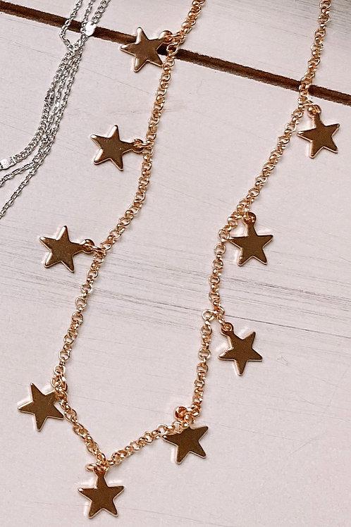 Single Strand Star Necklace