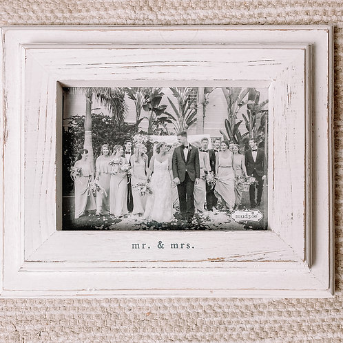 White Rustic Mr & Mrs Frame