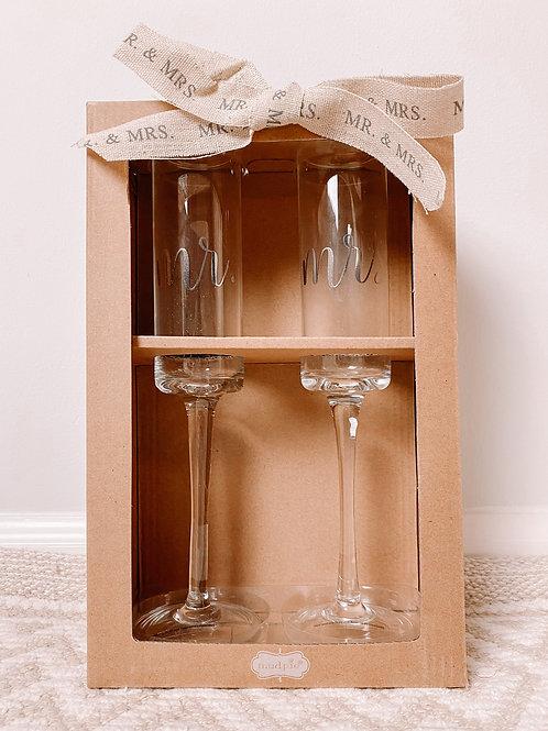 Mr & Mrs Champagne Set