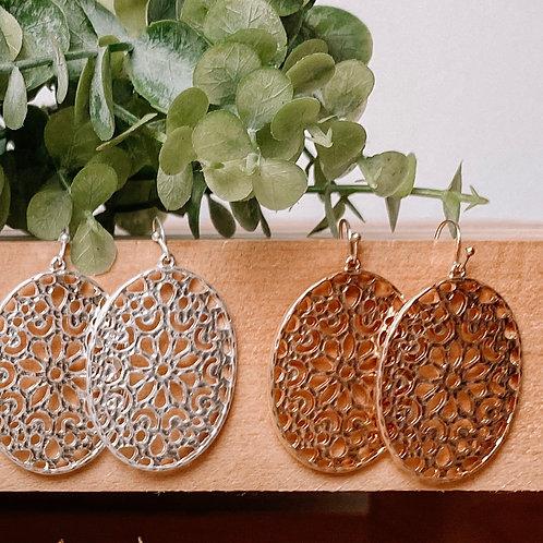 Oval Filagree Earrings