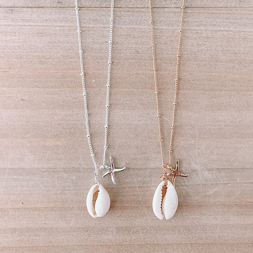 Starfish Cowrie Shell Necklace