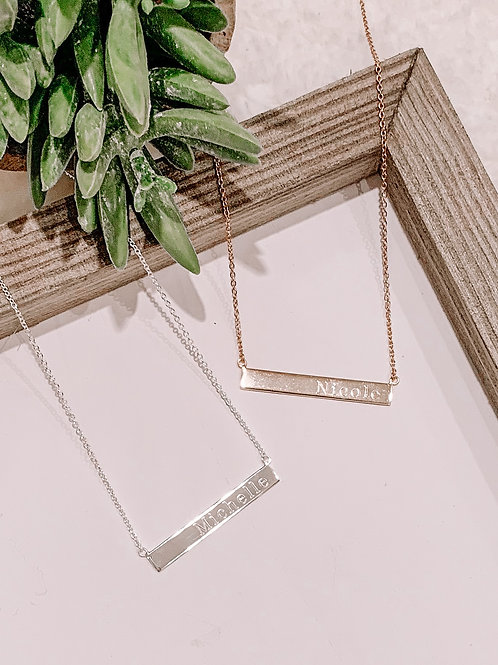 Lily Bar Necklace