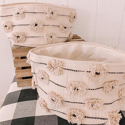 Flower PomPom Baskets