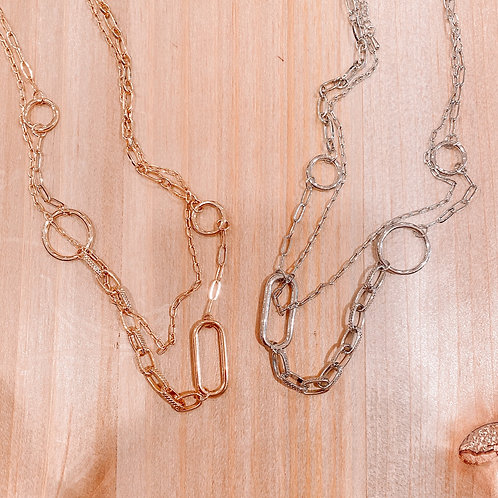 Double Layer Circle Chain Necklace
