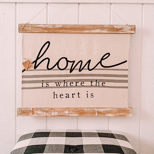 Home Fabric Sign