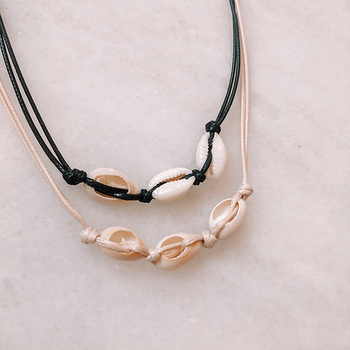 3 Cowrie Shell Necklace