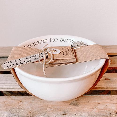 Hummus & Knife Bowl Set
