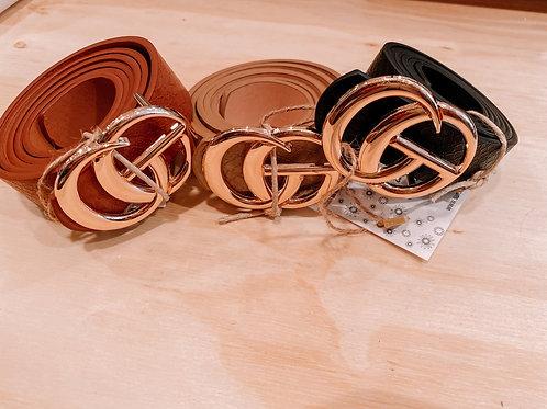 Leather Snake Skin Belt