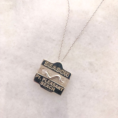 Sterling Silver Beach Badge Necklace