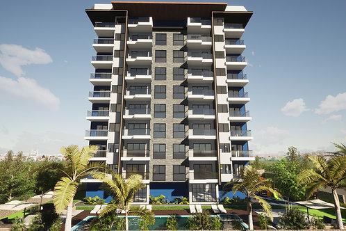1+1/2+1 Apartments with all Activities in Mahmutlar, Alanya