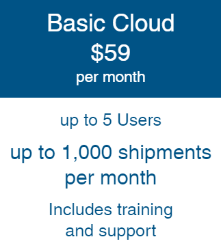 """OnShip """"Basic"""" Cloud Billed Annually"""