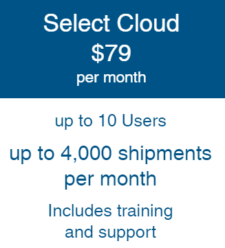 """OnShip """"Select"""" Cloud Billed Annually"""