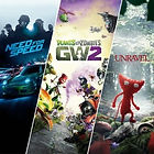 Need for Speed + Plants vs. Zombies + Garden Warfare 2 + Unravel - PS4
