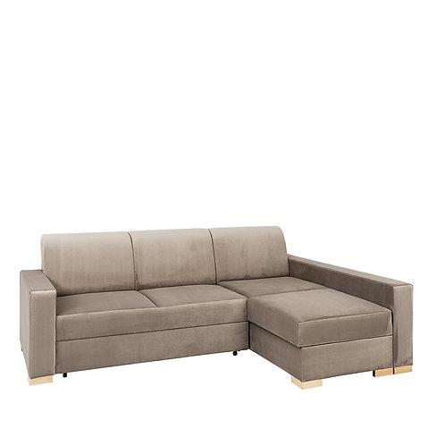 Corner Sofa Bed STABLE R - beige(rv16), natural