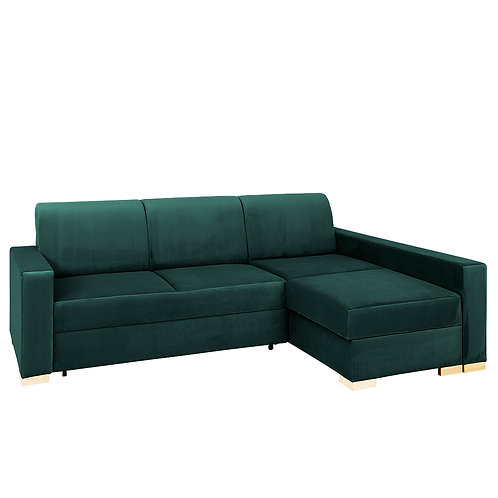Corner Sofa Bed STABLE R- avocado(rv38), natural