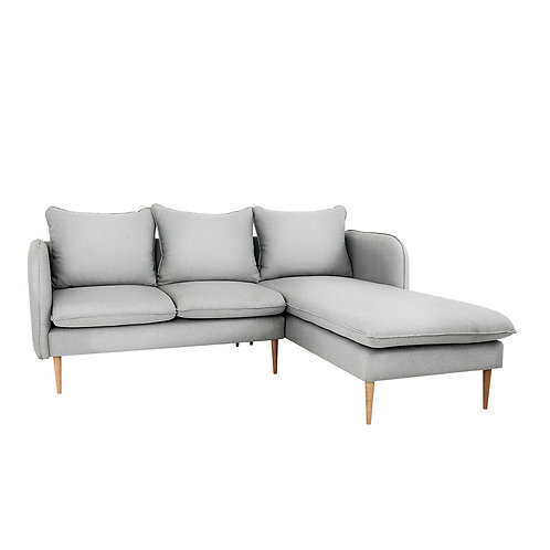 Corner Sofa  POSH P WOOD- platyna(et90), natural