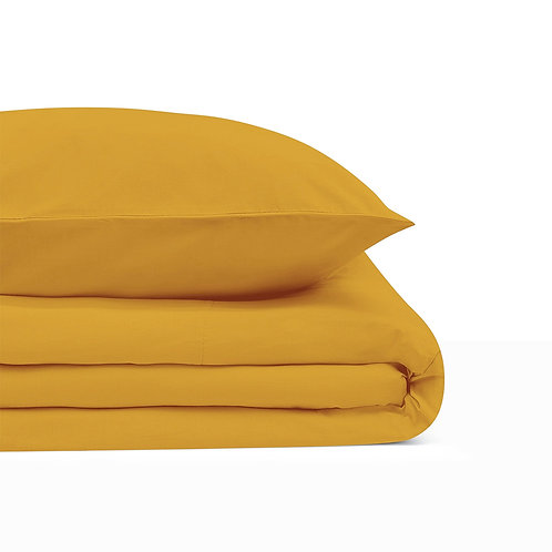 BASIC MUSTARD YELLOW BEDDING SET 220/200 + 2 x 70/80 cm