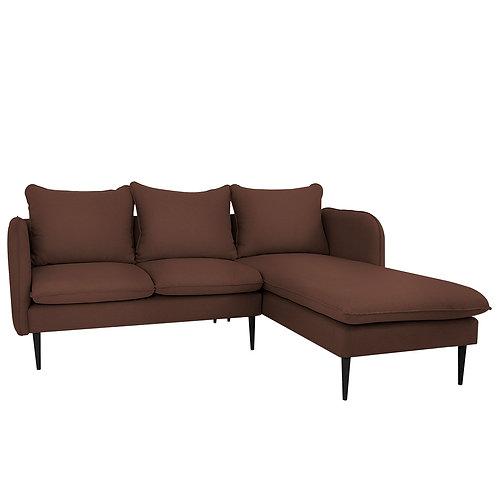 Corner Sofa  POSH P BLACK - brown(et27), black