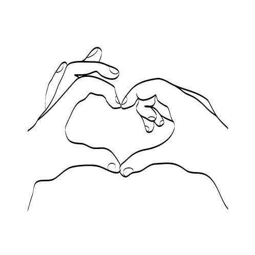 Canvas print love hand sign - 60 x 40 cm