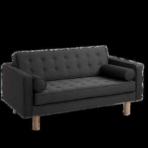 2 Seater Sofa TOPIC WOOD, Carbon (et95), Natural