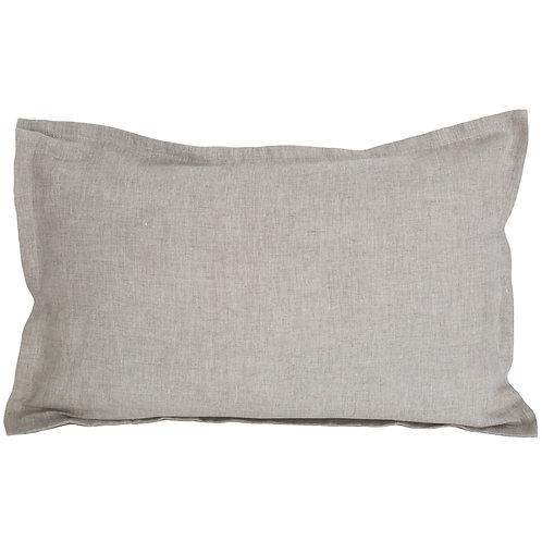 Flap linen pillowcase natural beige - 60x70 cm