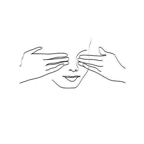 Canvas print Hidden visage - 75 x 50 cm