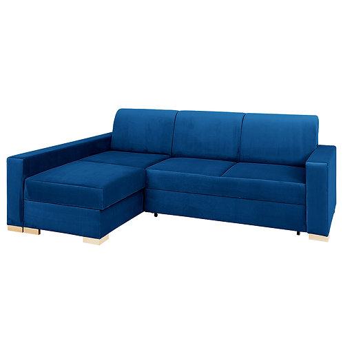 Corner Sofa Bed STABLE L - chokeberry(rv81), natural