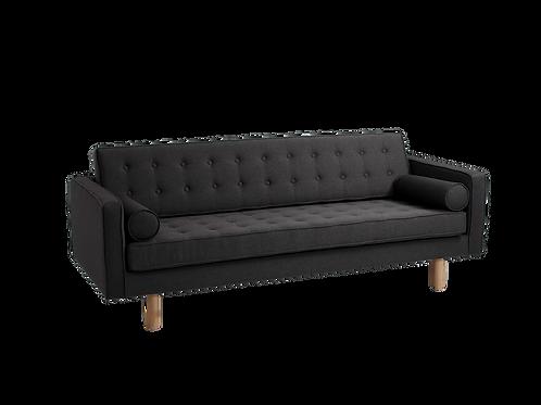 3 Seater Sofa TOPIC WOOD, Carbon (et95), Natural