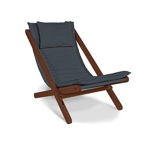 Allegro deckchair walnut (linseed oil) - graphite