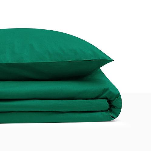 BASIC BOTTLE GREEN BEDDING SET 200/200 + 2 x 50/60 cm