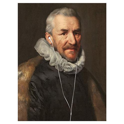 Headphones 2 - Fine Art Print 40 x 60 cm
