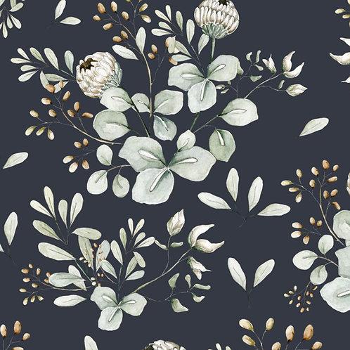 Clover Navy Blue Wallpaper