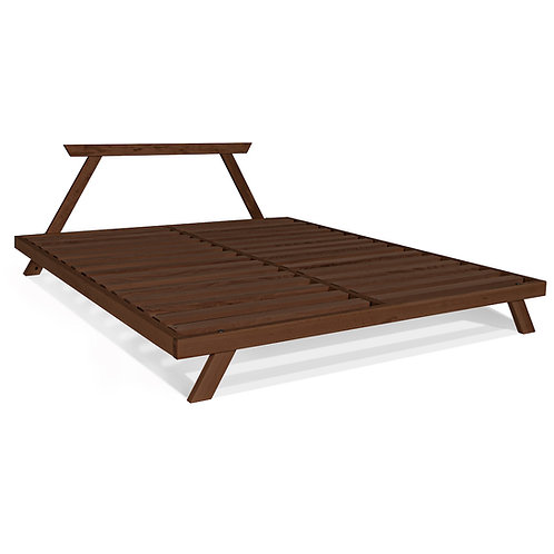 Allegro double bed 180x200 walnut (linseed oil)