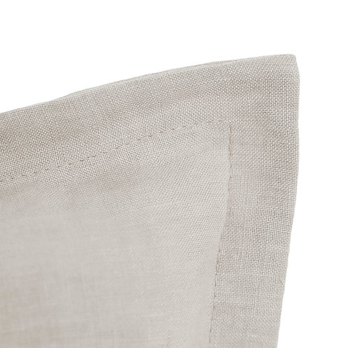 Flap linen pillowcase natural beige - 40x40 cm