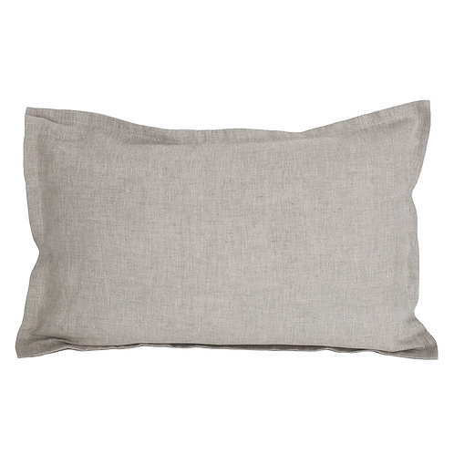 Flap linen pillowcase natural beige - 70x80 cm