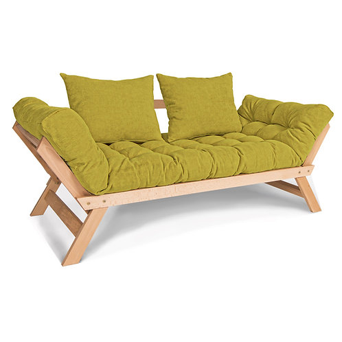 Allegro Sofa Bed natural (linseed oil) - green