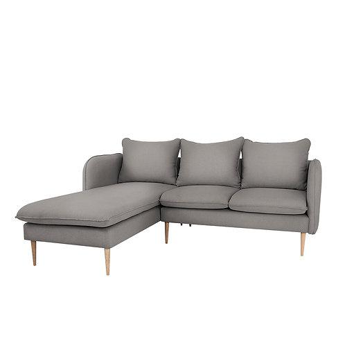 Corner Sofa  POSH L WOOD - steel(et91), natural