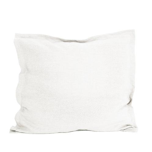 Flap linen pillowcase white - 40x40 cm