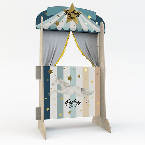 Fantasy Circus Blue! Toy and Bookstand in one.
