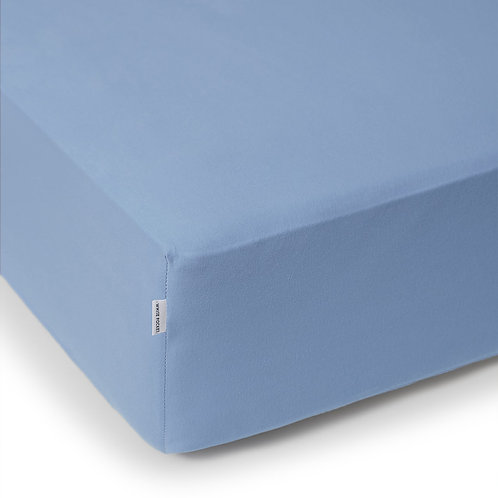 BLUE JERSEY FITTED SHEET 200/220 CM