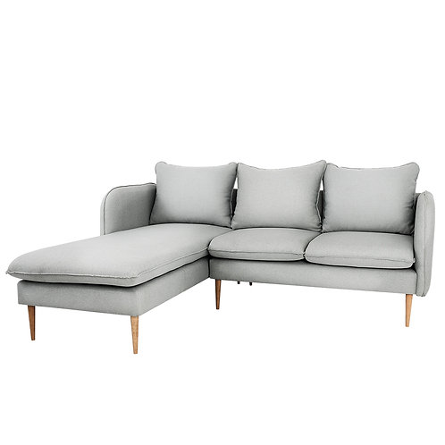 Corner Sofa  POSH L WOOD - platyna(et90), natural