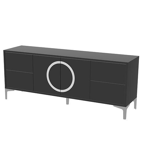 Black modern EVA TV cabinet /high gloss