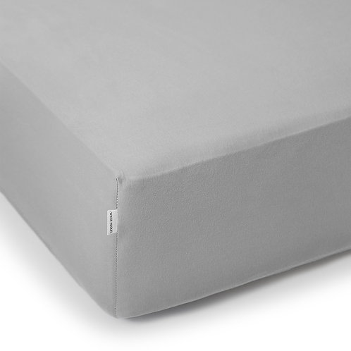 GREY JERSEY FITTED SHEET 160/200 CM