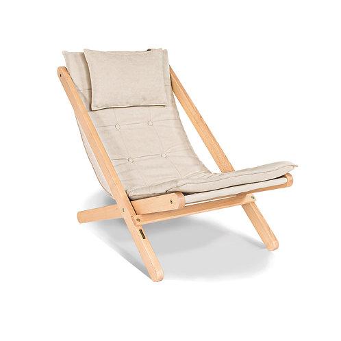Allegro deckchair untreated - cream
