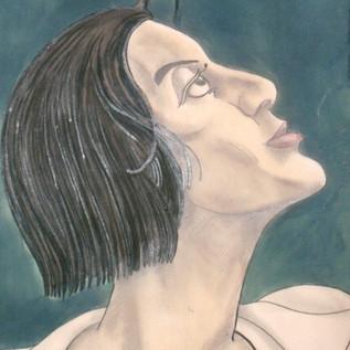 Michio Ito, drawing by Kisaku Ito
